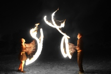 Fire juggling walkabout