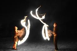 Fire juggling walkabout